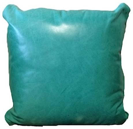 Great Blue Heron Albuquerque Turquoise Throw Pillow eclectic-decorative-pillows