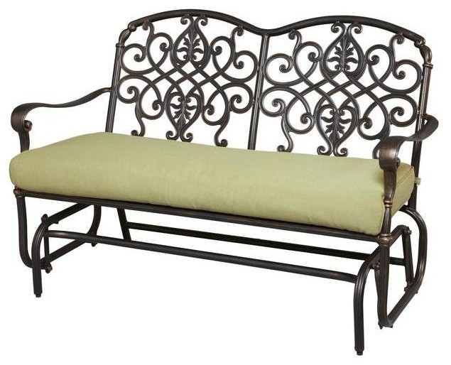 Hampton Bay Chairs Edington Patio Double Glider With Celery Cushion Contemporary Patio