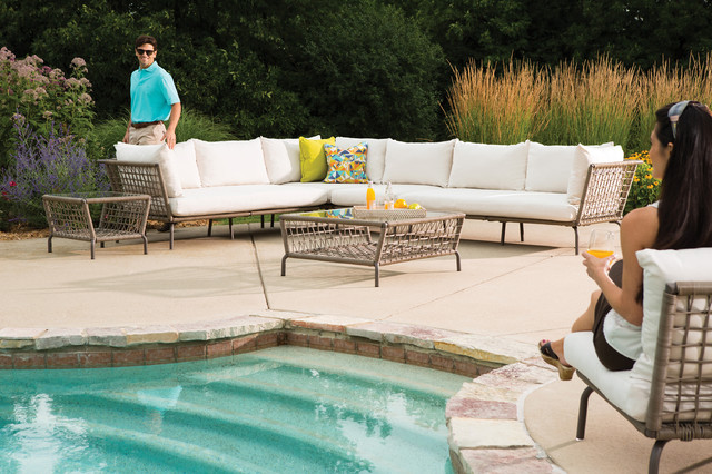 Lloyd Flanders SoHo Collection Poolside Sectional eclectic-outdoor-sofas