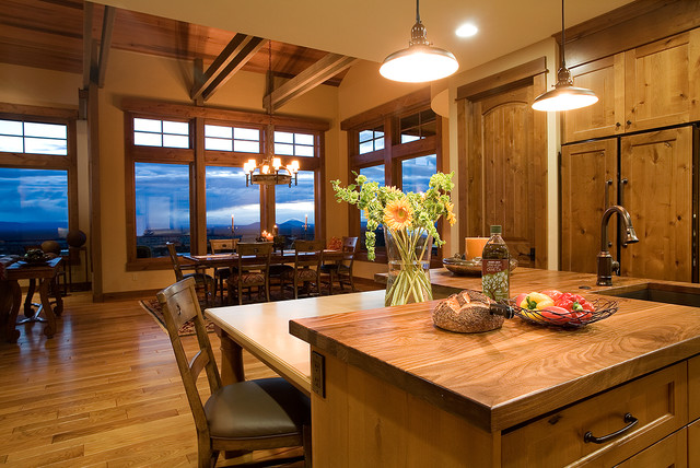Mountain Mansion Traditional Kitchen Portland By