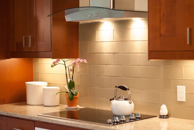 Adel Medium brown IKEA cabinet with white quartz ...  |Adel Kitchens Brown