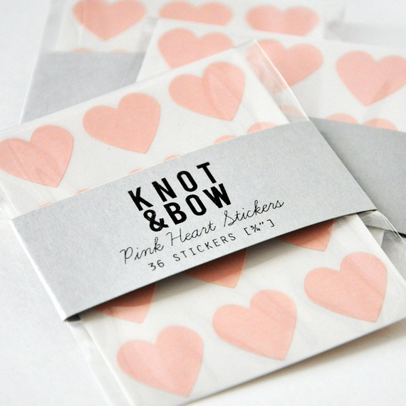 144 Pink Heart Stickers by Knot & Bow traditional-home-decor