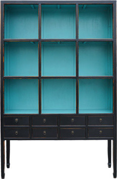 Zoe Cabinet in Aquamarine eclectic bookcases cabinets and computer armoires
