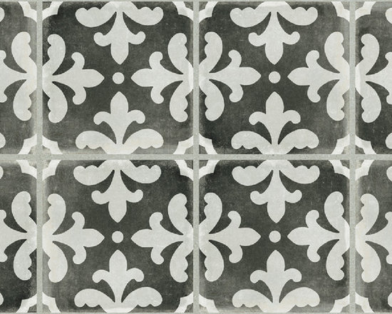 GRAPHITE FLORENTINA DECO 12X24 - The Palazzo collection provides a multi-faceted dynamic of old world charm and modern beauty with three beautiful colors and four unique decorative designs. Trim options and mosaics also available.