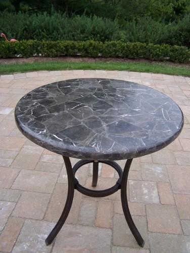 Espresso Stone Top Bistro Table Modern Outdoor Tables
