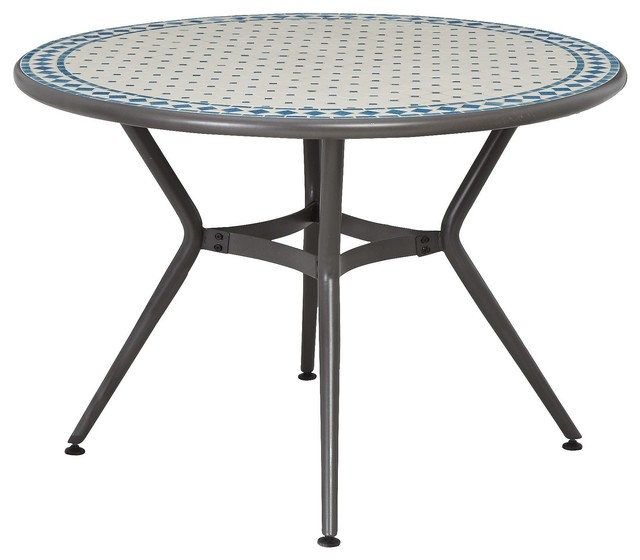 Silene metal round table contemporary garden dining for B q bedroom furniture sets