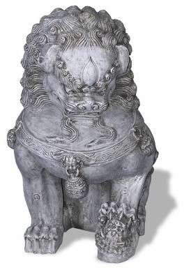 Amedeo Design ResinStone Foo Dog - Left Facing modern-pet-supplies