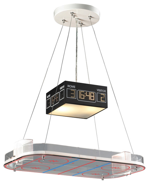 Backyard Rink Lighting : Hockey Rink Pendant Light  Pendant Lighting  chicago  by Belle and