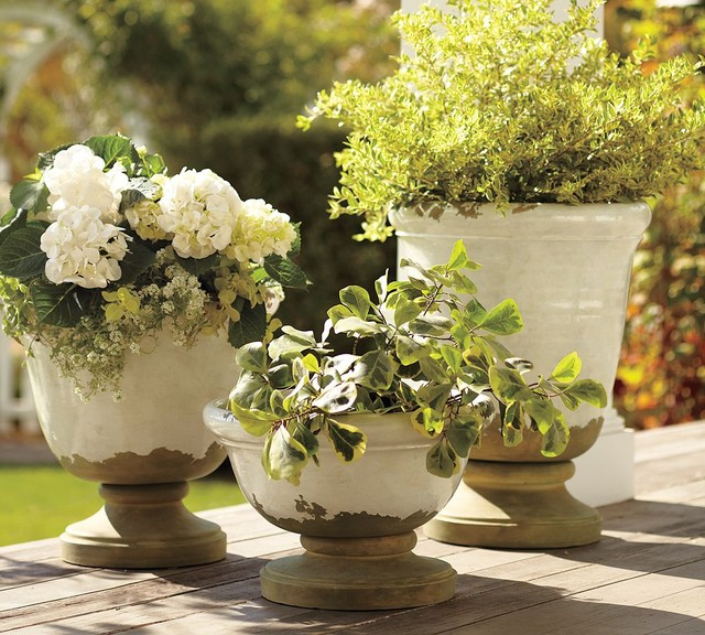 Tuscan Planters mediterranean-outdoor-pots-and-planters