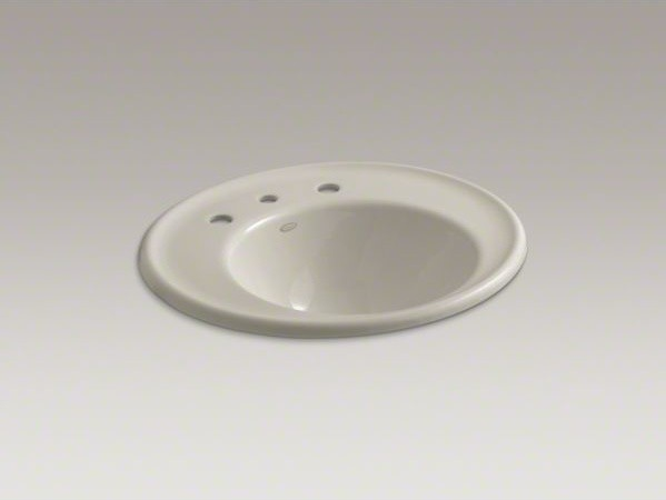 """KOHLER Iron Works(R) wall-mount bathroom sink with 8"""" widespread faucet holes an contemporary-bathroom-sinks"""
