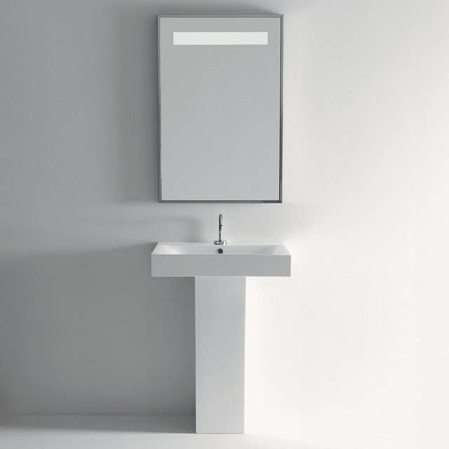 rectangular ceramic pedestal bathroom sink contemporary bathroom sinks