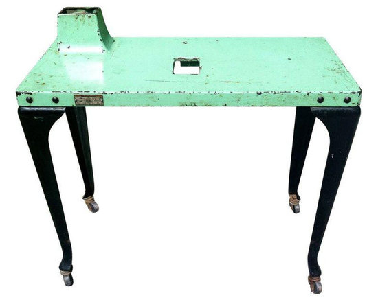 Industrial Westinghouse Factory Console Table - Dimensions 30.0ʺW × 14.0ʺD × 30.0ʺH