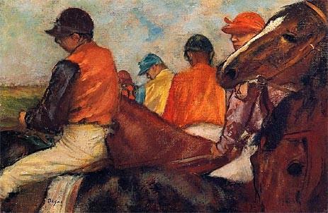 Jockeys, c.1881/85 | Edgar Degas | Canvas Prints prints-and-posters