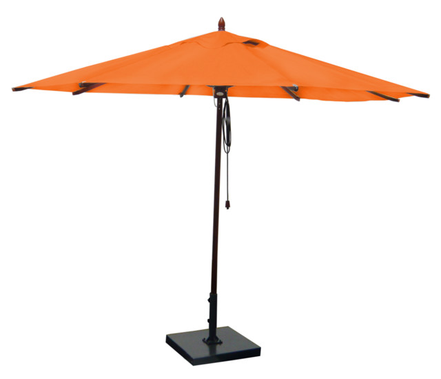 Mahogany Outdoor Patio Umbrella Orange Contemporary