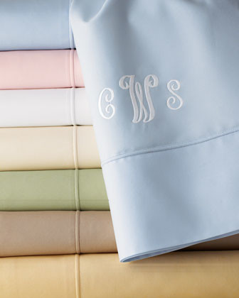 SFERRA King Flat Sheet, Monogrammed traditional-flat-sheets