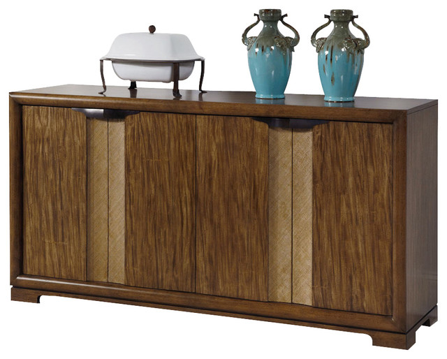 American Drew Grove Point Buffet in Soft Khaki transitional-buffets-and-sideboards