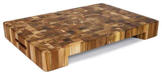 Block Board Usage ~ Proteak end grain bowl cut out rectangle chopping block