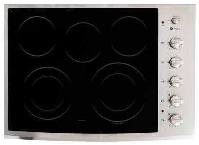 GE Cooktop. Profile CleanDesign 30 in. Smooth Surface Radiant Electric in Stainl contemporary-gas-ranges-and-electric-ranges
