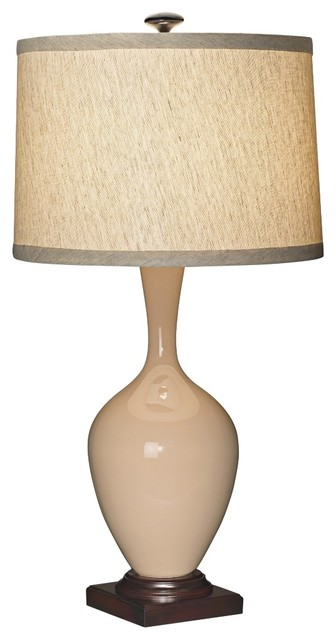 Country - Cottage Sand Ceramic Table Lamp traditional-table-lamps