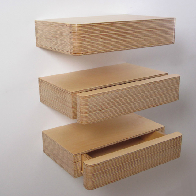 Pacco Floating Drawer - Modern - Display And Wall Shelves ...