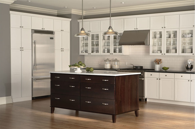 Rohe maple espresso island contemporary kitchen for Kitchen cabinets in pakistan