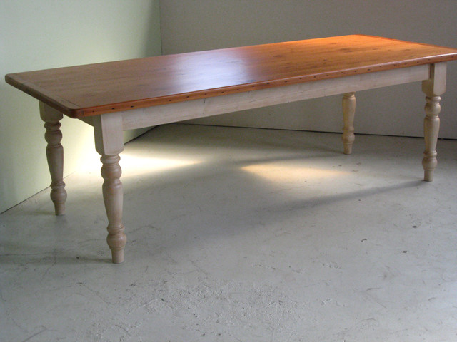 Reclaimed Wood Table Farmhouse Dining Tables boston by LakeandMountai