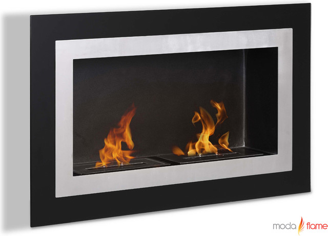 Moda Flame Ronda Wall Mounted Ethanol Fireplace contemporary-indoor-fireplaces