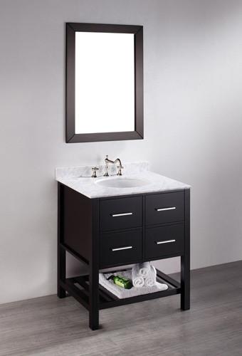 Petite Open Shelf Bathroom Vanities For A Small Bathroom - Modern ...