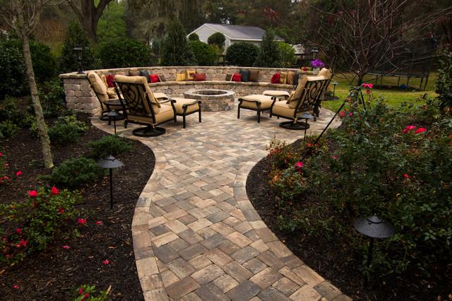 Beautiful outdoor patios in orlando brick pavers stone for Beautiful backyard patios