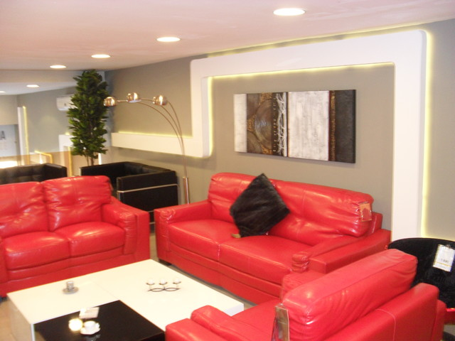 Ba13 and led light modern living room other metro for Decoration ba13