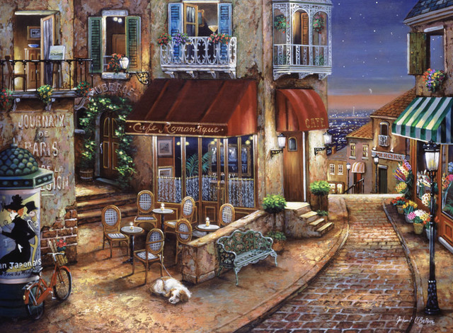 cafe romantique 2 wall art traditional wallpaper by