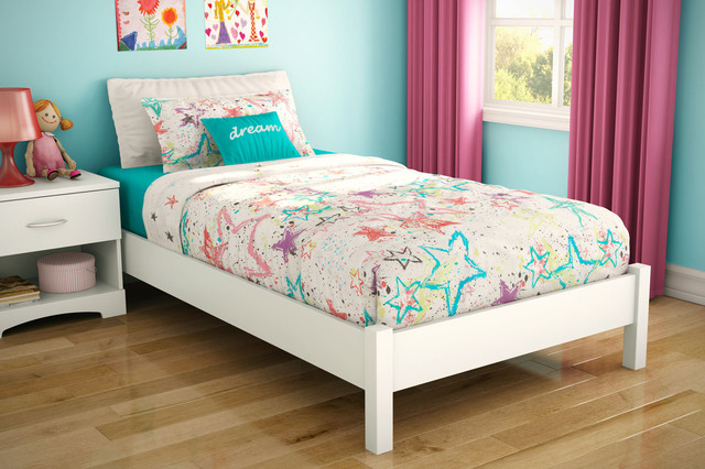 Pure White Kids Platform Bed Modern Kids Beds By Dexter Sykes