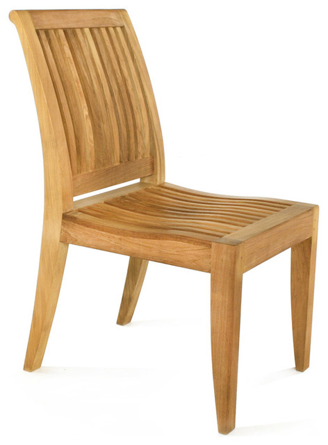 Laguna Teak Dining Chair transitional-outdoor-chairs