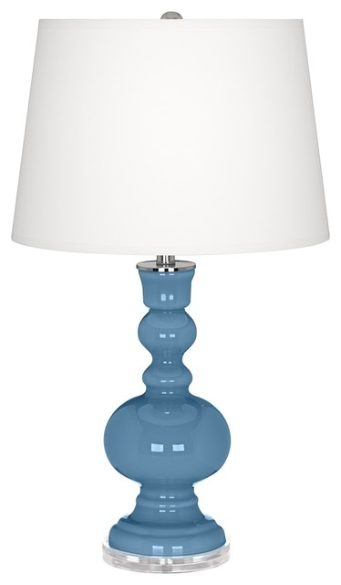 Contemporary Secure Blue Apothecary Table Lamp contemporary-table-lamps