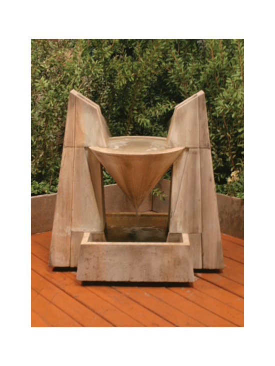 Daccapo Fountain - While I admit this may not be for everyone, I love the idea of this imposing piece really making a statement in the corner of a patio.