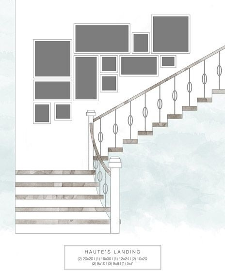 Staircase wall decorating ideas modern other metro - Stairway photo gallery ideas ...