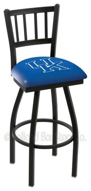 Holland Bar Stool L018 - Black Wrinkle Kentucky Swivel Bar Stool contemporary-bar-stools-and-counter-stools