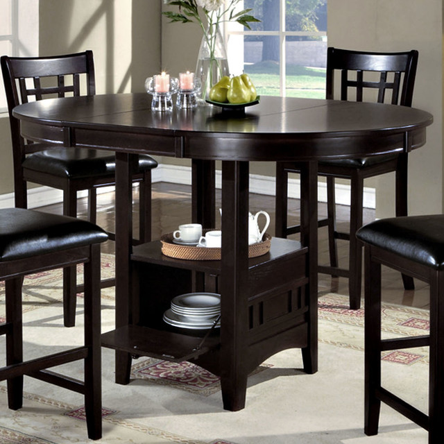Storage Pub Table in Cappuccino Veneer Top Contemporary  : contemporary dining tables from www.houzz.com size 640 x 640 jpeg 116kB