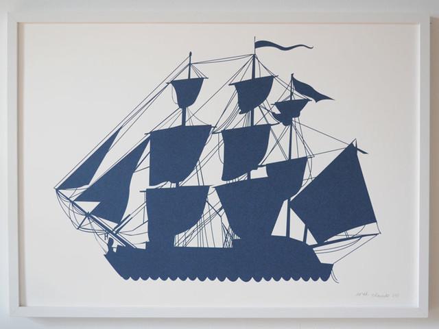 Ship Print by Banquet Atelier & Workshop modern-artwork