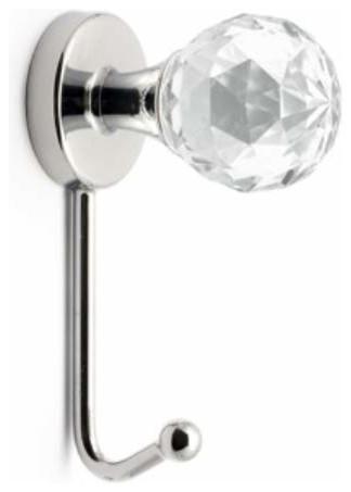 Richelieu Metal Swarovski Crystal Hook 100x40mm Chrome