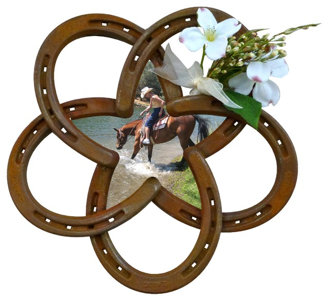 Horseshoe Star Picture Frame Traditional Home Decor