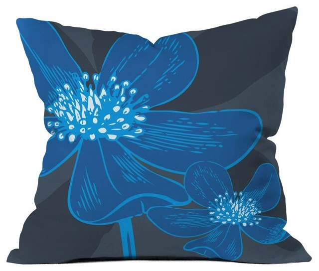 DENY Designs Caroline Okun Vast Anemone Outdoor Throw Pillow Multicolor - 15392- modern-outdoor-cushions-and-pillows