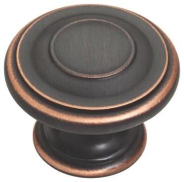 Liberty Harmon 1-3/8 in. Oil-Rubbed Bronze Cabinet Hardware Knob P22669C-VBC-C - Contemporary ...