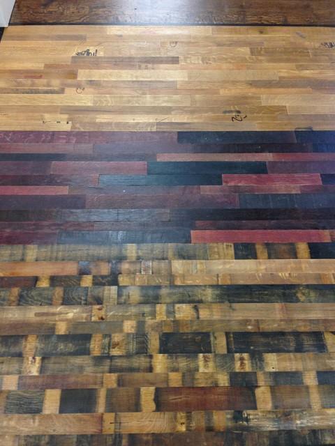 Reclaimed wine barrel flooring hardwood-flooring
