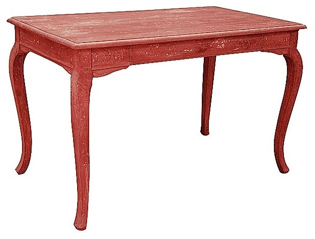 Trade Winds Furniture Red Cabriole Computer Desk