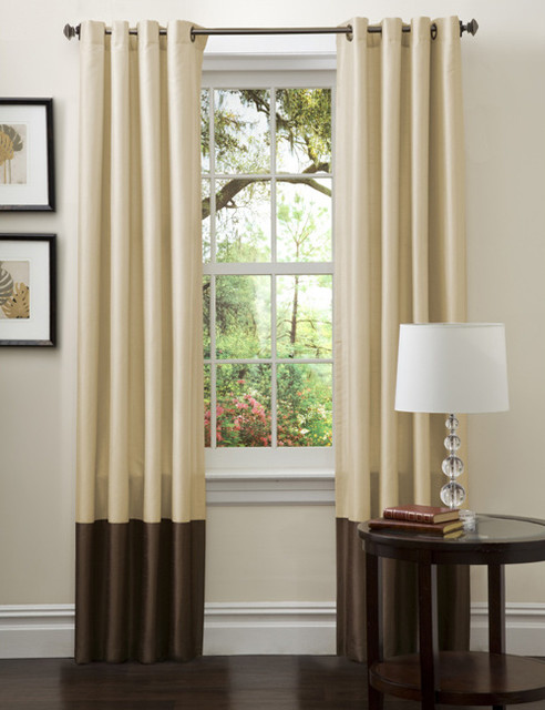 lush decor prima gold brown curtain panels set of 2 contemporary curtains by. Black Bedroom Furniture Sets. Home Design Ideas