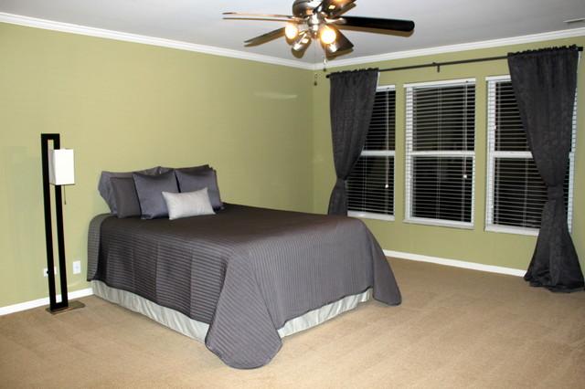 Master Bedroom Staged Modern Bedroom