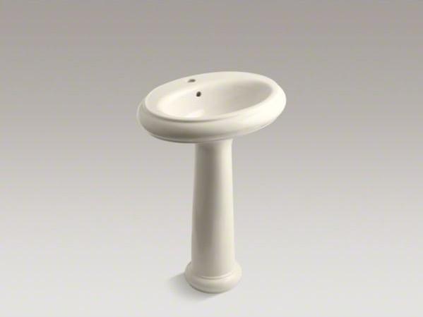 "KOHLER Revival(R) 24"" traditional pedestal bathroom sink with single faucet hole contemporary-bathroom-sinks"