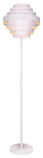 Moe's Home Collection Flores White Iron Tiered Floor Lamp modern-floor-lamps