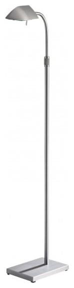 George Kovacs 1-Light Floor Lamp, Nickel contemporary-floor-lamps
